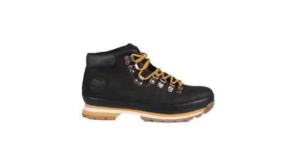 Černé kotníkové boty se žlutými prvky Bustagrip