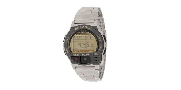 Pánské digitální hodinky Casio se záznamníkem