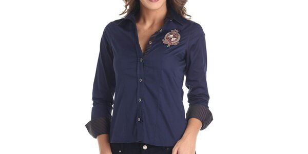 Dámská modrá sportovní košile Galvanni