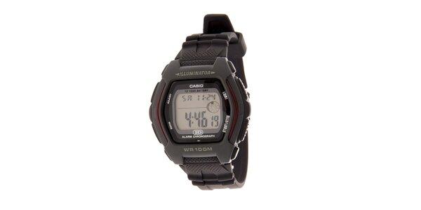 Pánské tmavě šedé digitální hodinky Casio