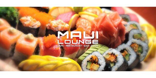 Pravé japonské sushi menu o 22 kouscích