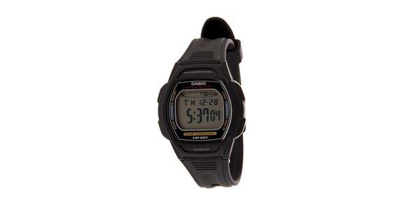 Dámské černé digitální hodinky Casio