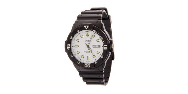 Pánské náramkové hodinky Casio s černým pryžovým řemínkem
