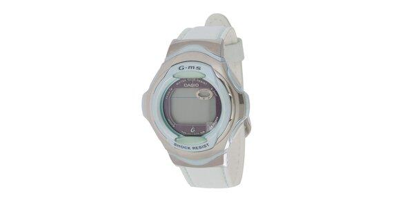 Dámské šedo-modré digitální hodinky Casio