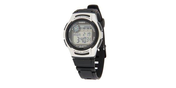 Pánské digitální hodinky Casio s černým pryžovým řemínkem