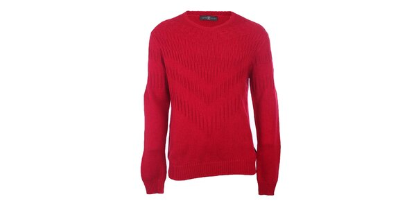 Pánský rudý svetr Pietro Filipi
