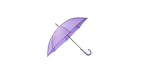 Elegantní dámský deštník Ferré Milano ve fialové barvě s černými lemy