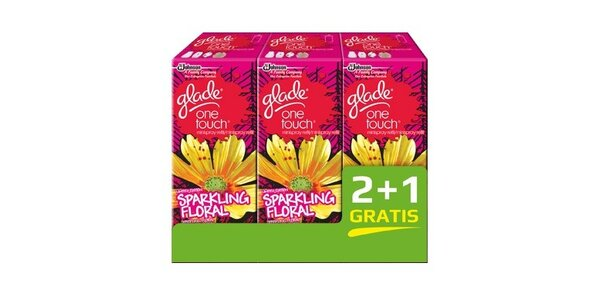 Glade One Touch Sparkling floral náplň 2+1