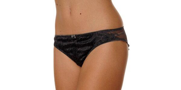 Dámské černé kalhotky Calvin Klein s potiskem