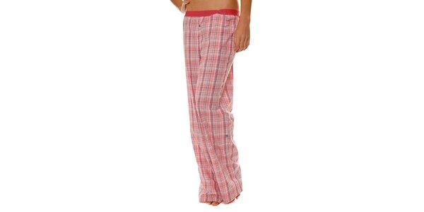 Dámské růžové kostkované pyžamové kalhoty Calvin Klein