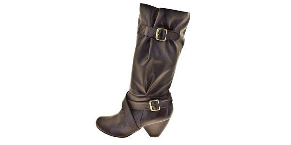 Dámské hnědé boty s přezkami Bitter Sweet