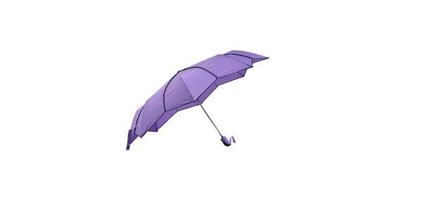 Dámský fialový skládací deštník Ferré Milano s netradičně vykrojenými okraji do…
