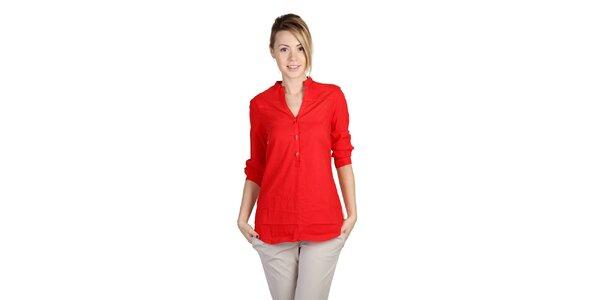 Dámská červená košile s barevnými zády Bonavita