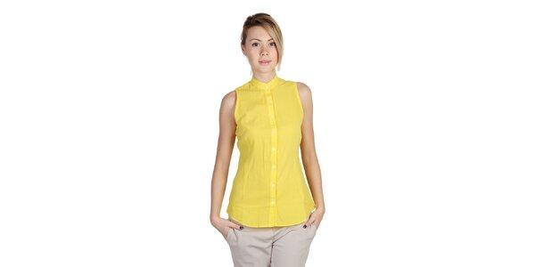 Dámská žlutá košile bez rukávů Bonavita