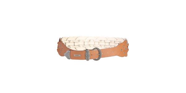 Dámský kožený pásek v hnědé barvě Bonavita