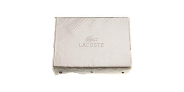 Krémový set ložního prádla Lacoste v provedení bavlněný satén