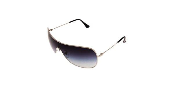 Pánské stříbrné sluneční brýle Ray-Ban se spojenými kouřovými skly