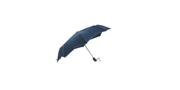 Tmavě modrý skládací deštník Ferré Milano s netradičně vykrojenými okraji do…