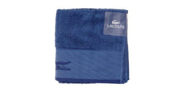 Modrý ručník Lacoste