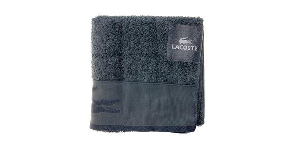 Ocelově modrý ručník Lacoste
