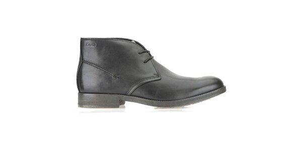 Pánské kožené kotníčkové černé boty Clarks