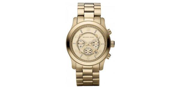 Dámské analogové hodinky z pozlacené nerezové oceli Michael Kors