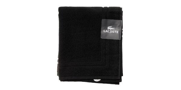 Černá koupelnová předložka Lacoste