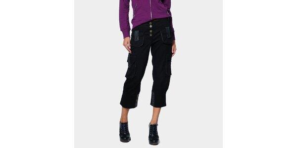 Dámské černé tříčtvrteční kapsáče ODM Fashion