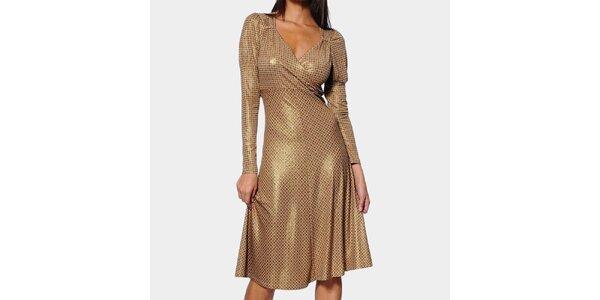 Dámské zlaté šaty ODM Fashion