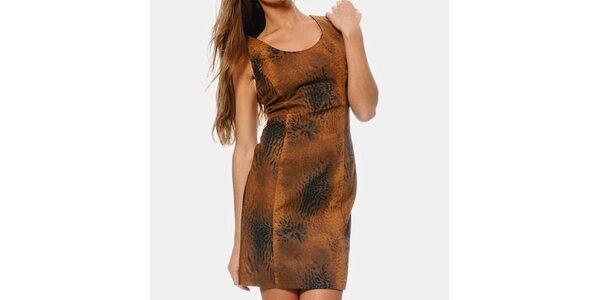 Dámské hnědé safari šaty ODM Fashion