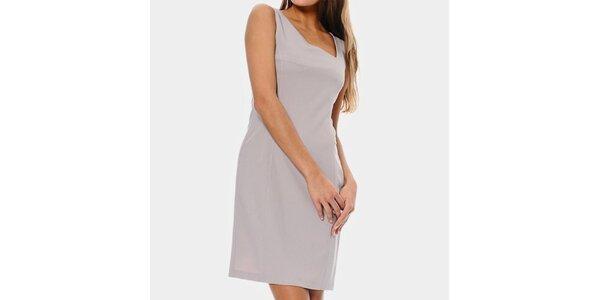 Dámské pudrové pouzdrové šaty ODM Fashion