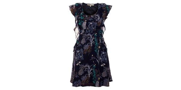 Dámské tmavě modré šaty Uttam Boutique s potiskem