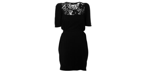 Dámské černé šaty Uttam Boutique s krajkou