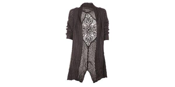 Dámský tmavě šedý kardigan Uttam Boutique