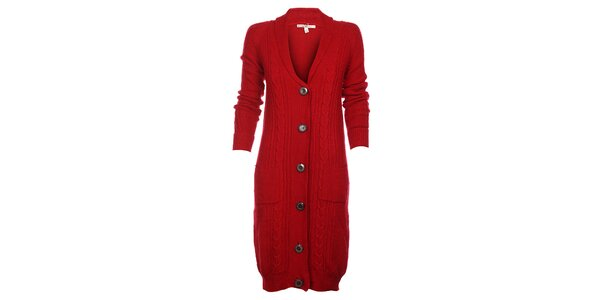Dámský červený kardigan Uttam Boutique