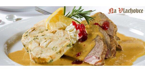 Otevřený voucher do restaurace Na Vlachovce na jídlo i pití v hodnotě 400 Kč