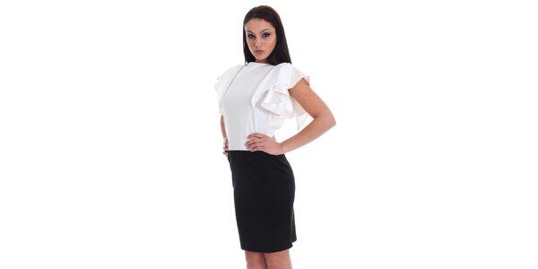 Dámské černo-bílé šaty SforStyle