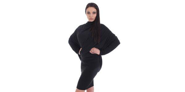 Dámské černé šaty s pouzdrovou sukní SforStyle