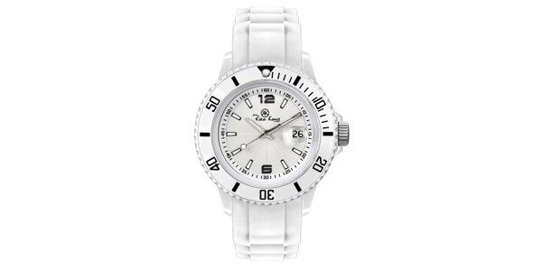 Bílé analogové hodinky se silikonovým řemínkem Riko Kona