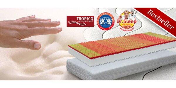 Doprodej: Ortopedické matrace Tropico Visco Baron s vrstvou paměťové pěny
