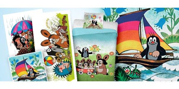 Doprodej: Dětské bytové doplňky s obrázky Krtečka