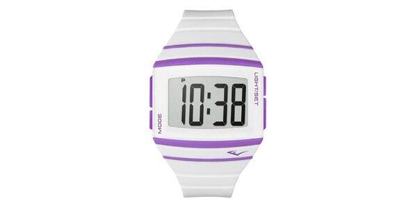 Dámské bílé digitální hodinky Everlast