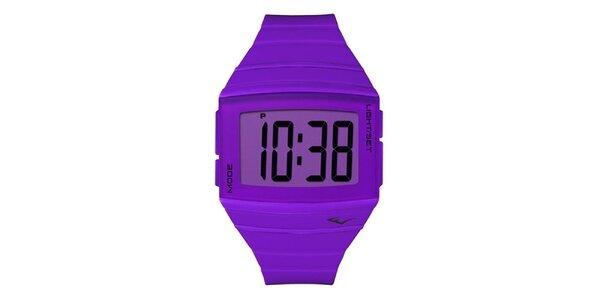 Dámské fialové digitální hodinky Everlast