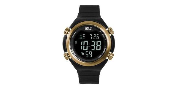 Dámské černo-zlaté digitální hodinky Everlast