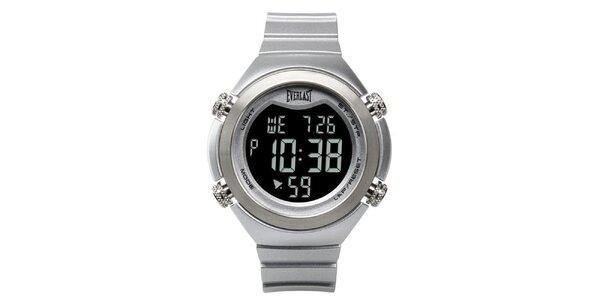 Dámské stříbrné digitální hodinky Everlast