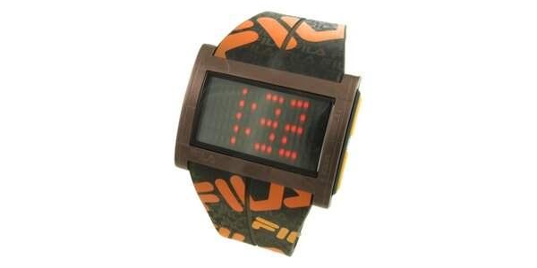 Dámské designové hodinky Fila s oranžovým logem