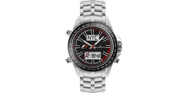 Pánské ocelové hodinky s chronografem Jacques Lemans