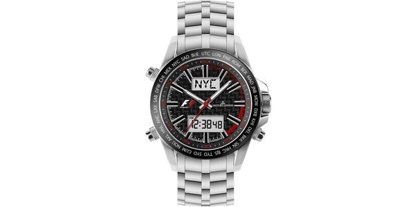 Pánské ocelové hodinky s chronografem Jacques Lemans 1528bae0c5