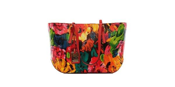 Dámská barevná květinová kabelka Beverly Hills Polo Club