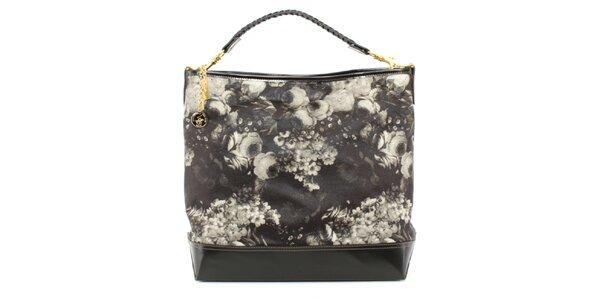 Dámská kabelka s šedým květinovým potiskem Beverly Hills Polo Club